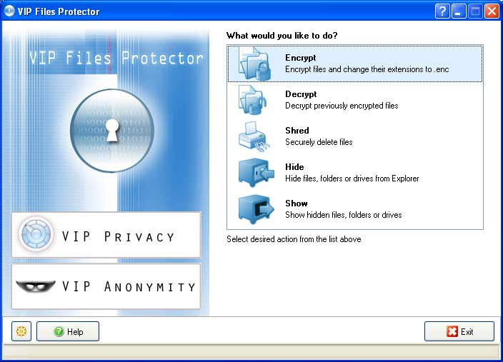 Click to view VIP Files Protector 1.0 screenshot
