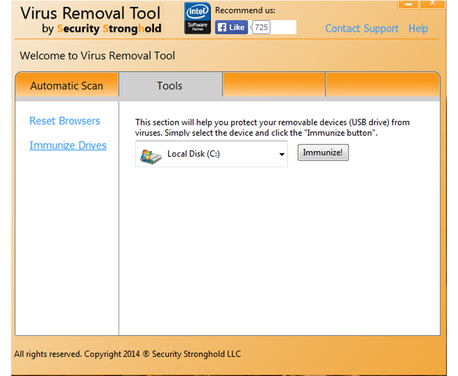 Immunize your drives with Virus Removal Tool