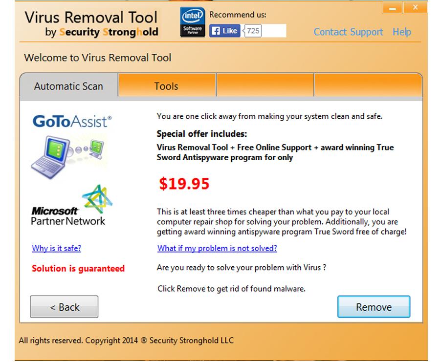 Buy Virus Removal Tool here in order to remove viruses
