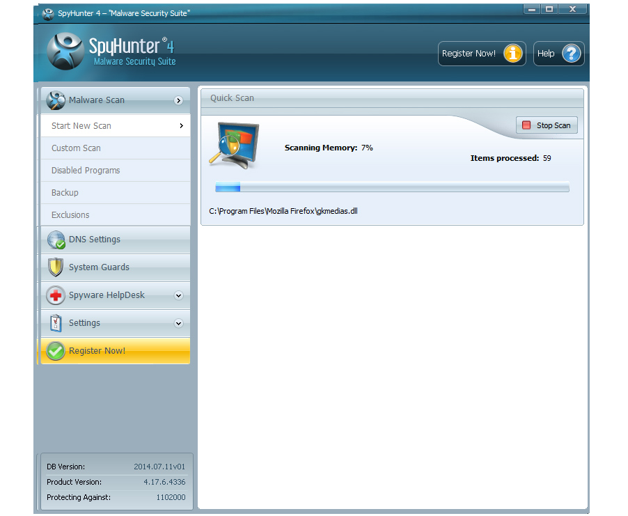 Remove viruses with Spyhunter